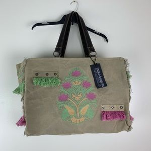 Vintage Addiction Embroidery Tent Market Tote Bag